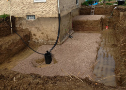 Digging Foundation Residential Addition